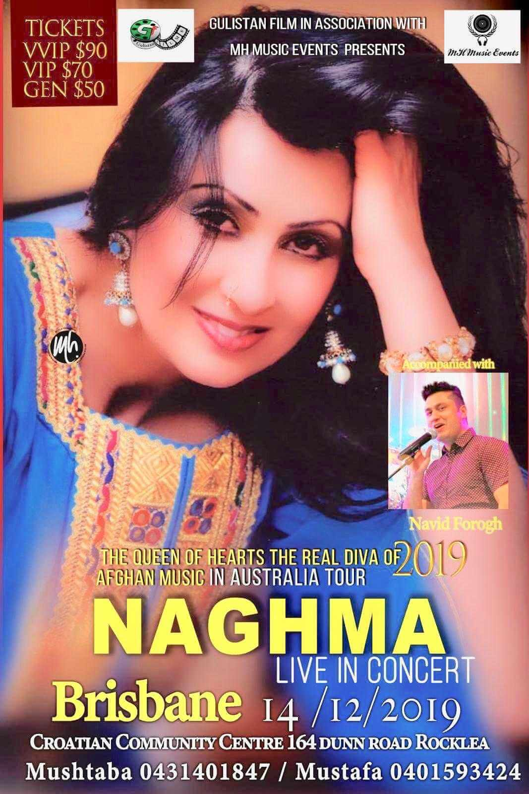Diva of Afghan Music Naghma Live in Concert Brisbane