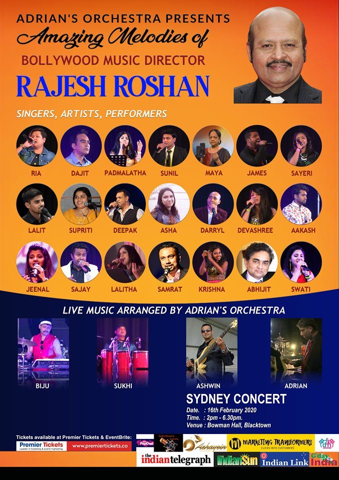 Amazing Melodies of Rajesh Roshan by Adrian's Orchestra – SYDNEY