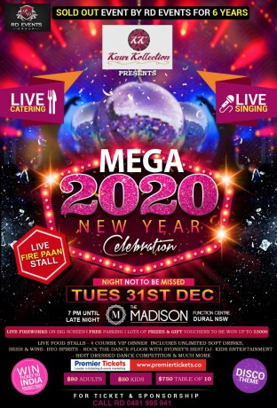 Mega 2020 New Year Celebration - Sydney