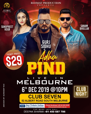 ADHA PIND -  Live in Melbourne