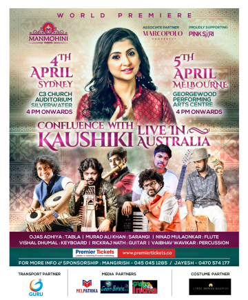 Confluence with Kaushiki Chakraborty in Sydney