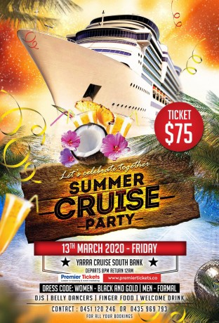 Summer Cruise Party - Melbourne