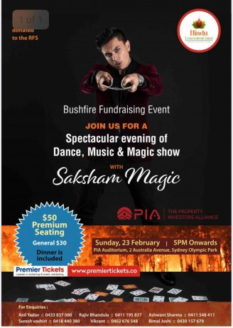 Bushfire Fundraising Event in Sydney