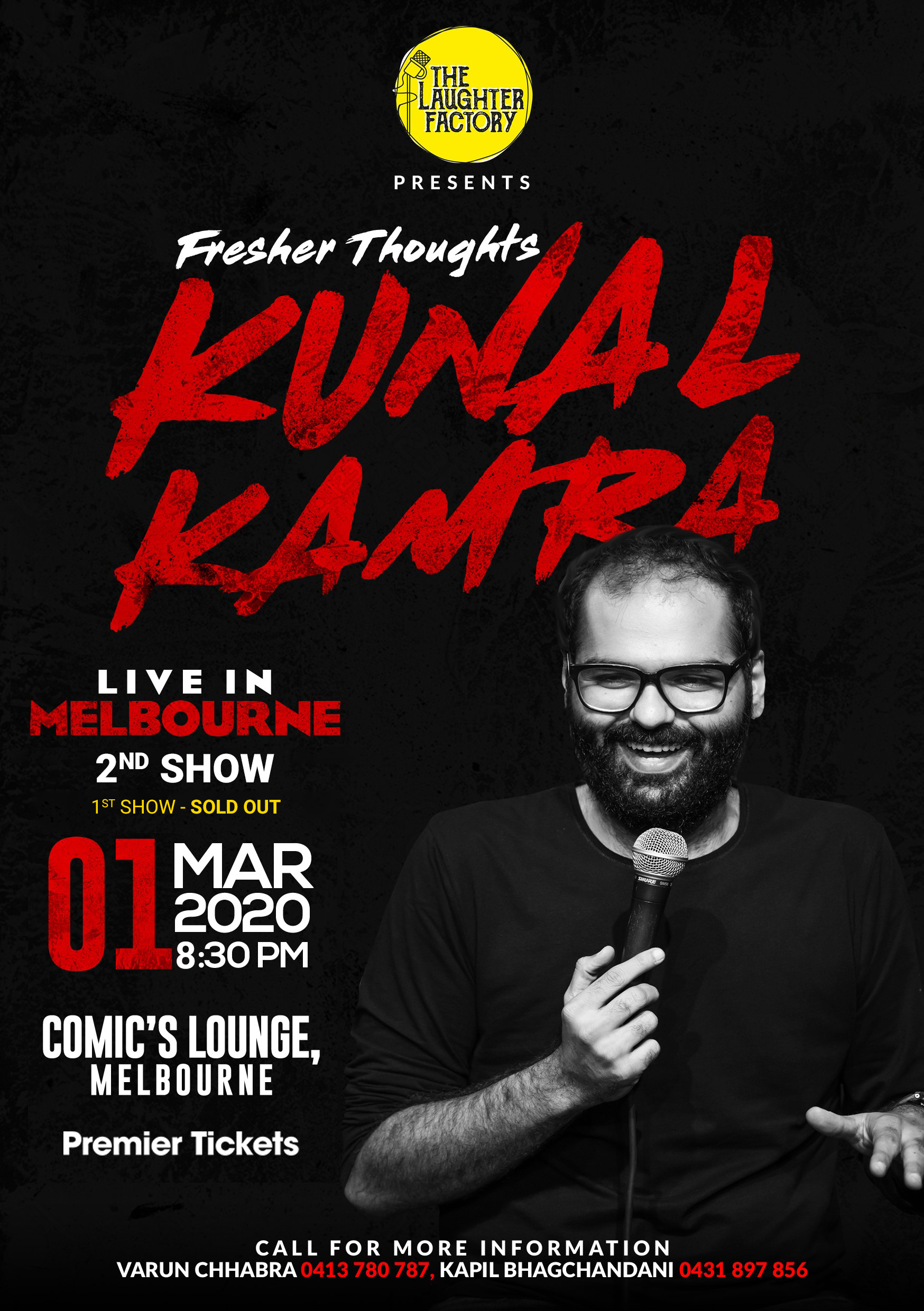 Fresher Thoughts by Kunal Kamra in Melbourne – 2nd Show