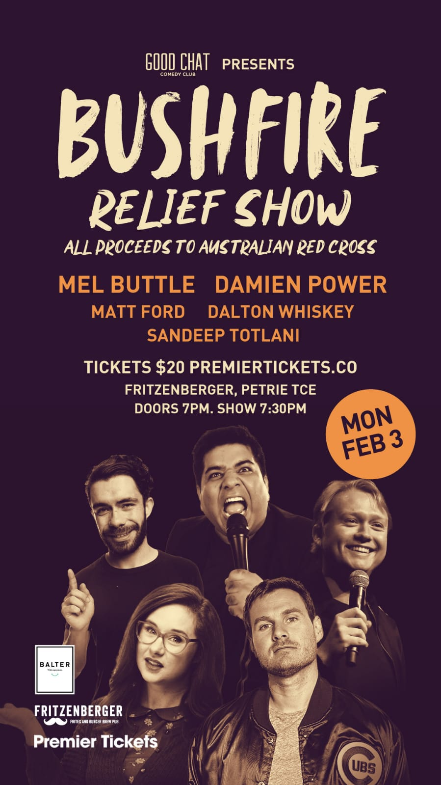 Bushfire Relief Show Brisbane – Stand up Comedy