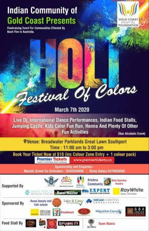 Holi – Festival of Colors & The Gold Coast Kids Color Fun Run
