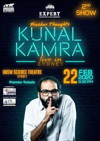 Fresher Thoughts by Kunal Kamra in Sydney – 2nd Show