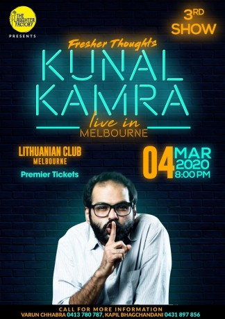 Fresher Thoughts by Kunal Kamra in Melbourne – 3rd Show