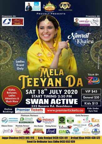 Mela Teeyan Da in Perth with Nimrat Khaira - Ladies Only Event