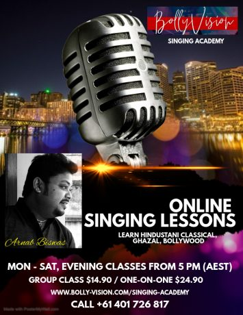 BollyVision Online 1 On 1 Singing Lessons - United Kingdom