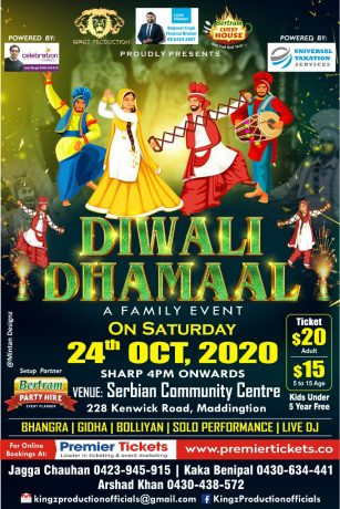 Diwali Dhamaal 2020 in Perth